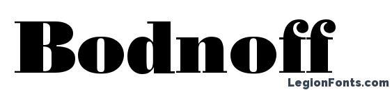 Bodnoff Font