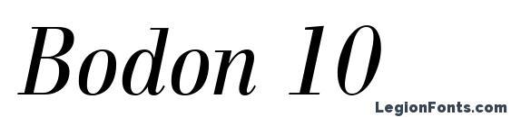 Шрифт Bodon 10