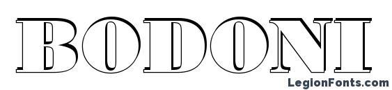 Шрифт Bodoni 7