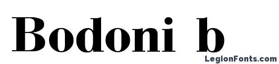 Шрифт Bodoni b