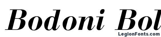 Bodoni BoldItalic Cyrillic Font