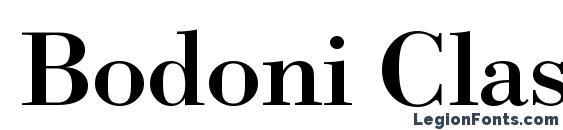 Bodoni Classico Bold Font