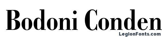 Bodoni Condensed SSi Bold Condensed Font