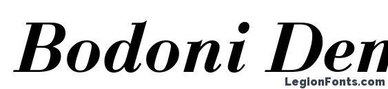 Шрифт Bodoni Demi Italic