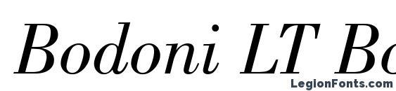 Bodoni LT Book Italic Font
