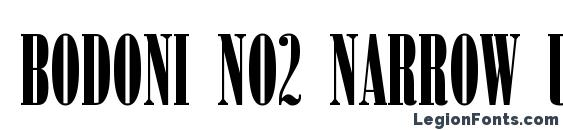 Bodoni No2 Narrow Ultra Regular Font