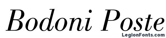 Bodoni Poster SSi Book Italic Font