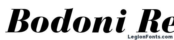 Bodoni Recut Black SSi Black Italic Font