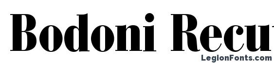 Шрифт Bodoni Recut BlackCondensed SSi Normal