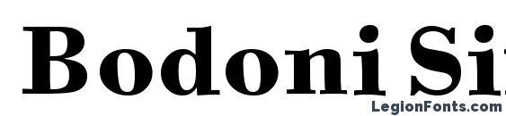 Шрифт Bodoni Six ITC TT Bold