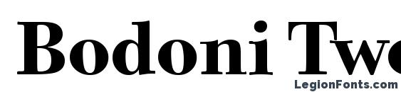 Bodoni Twelve ITC TT Bold Font