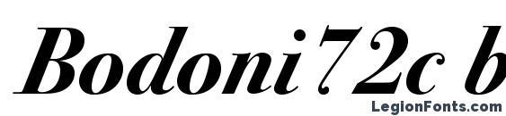 Bodoni72c bolditalic Font