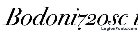 Шрифт Bodoni72osc italic