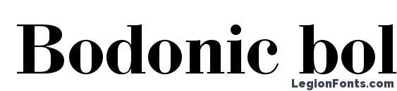 Шрифт Bodonic bold