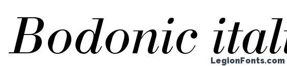 Шрифт Bodonic italic