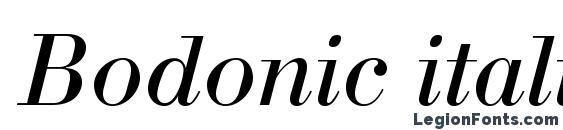 Bodonic italic Font