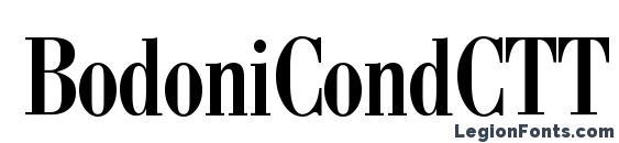 шрифт BodoniCondCTT, бесплатный шрифт BodoniCondCTT, предварительный просмотр шрифта BodoniCondCTT