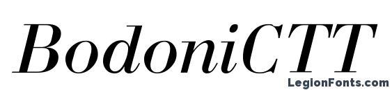 Шрифт BodoniCTT Italic