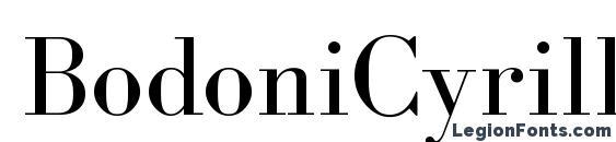 Шрифт BodoniCyrillicFWF