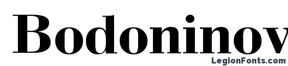 Bodoninova bold Font