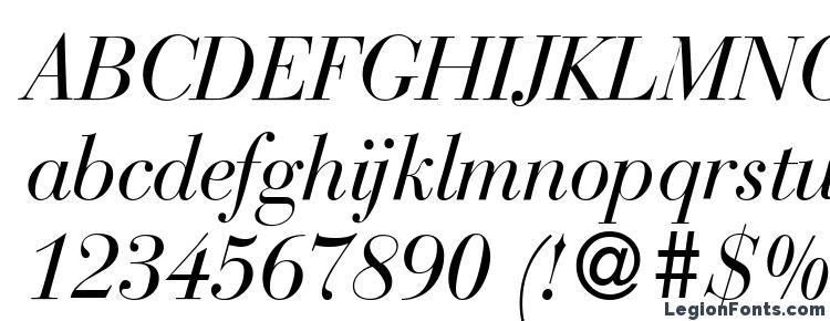 глифы шрифта BodoniRecut Italic, символы шрифта BodoniRecut Italic, символьная карта шрифта BodoniRecut Italic, предварительный просмотр шрифта BodoniRecut Italic, алфавит шрифта BodoniRecut Italic, шрифт BodoniRecut Italic