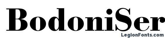 Шрифт BodoniSerial Xbold Regular
