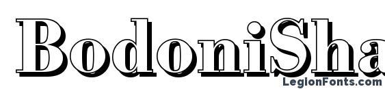 BodoniShadow Bold Font, Cool Fonts