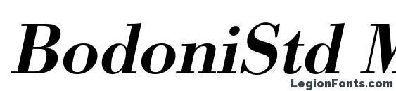 BodoniStd Medium Italic font, free BodoniStd Medium Italic font, preview BodoniStd Medium Italic font