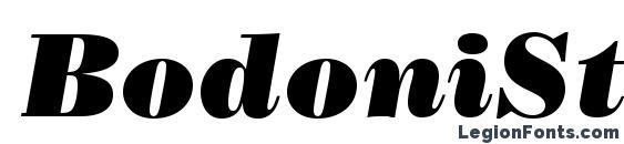 Шрифт BodoniStd PosterItalic
