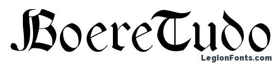 шрифт BoereTudor, бесплатный шрифт BoereTudor, предварительный просмотр шрифта BoereTudor