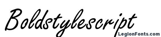 Boldstylescript font, free Boldstylescript font, preview Boldstylescript font