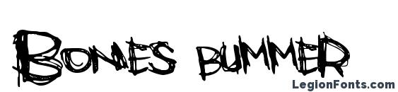 Шрифт Bones bummer