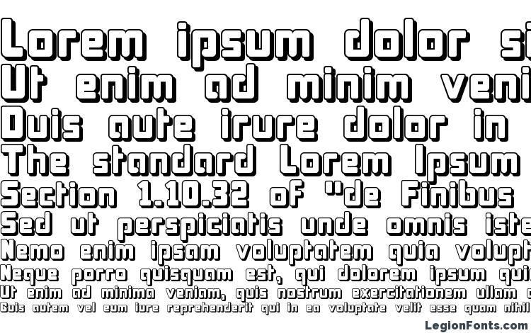 specimens Bonk Offset font, sample Bonk Offset font, an example of writing Bonk Offset font, review Bonk Offset font, preview Bonk Offset font, Bonk Offset font