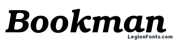 Bookman ITC Demi Italic BT Font