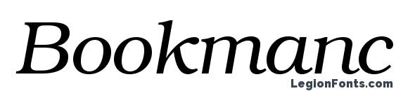 Шрифт Bookmanc italic