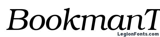 Шрифт BookmanTTT Italic