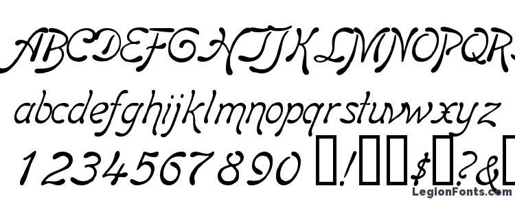 глифы шрифта Boomerang Italic, символы шрифта Boomerang Italic, символьная карта шрифта Boomerang Italic, предварительный просмотр шрифта Boomerang Italic, алфавит шрифта Boomerang Italic, шрифт Boomerang Italic