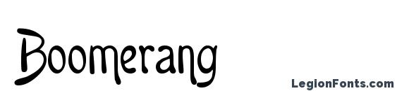 Шрифт Boomerang