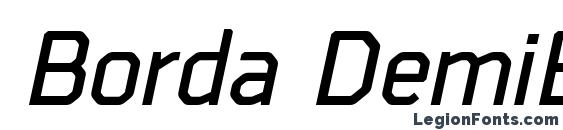 Borda DemiBoldItalic Font
