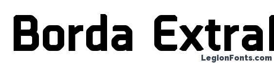 шрифт Borda ExtraBold, бесплатный шрифт Borda ExtraBold, предварительный просмотр шрифта Borda ExtraBold