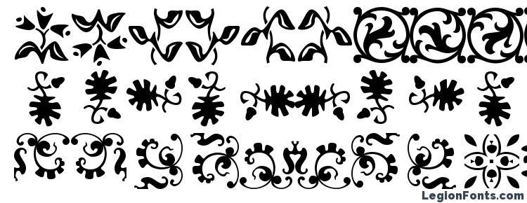 глифы шрифта Borderbats Fleur, символы шрифта Borderbats Fleur, символьная карта шрифта Borderbats Fleur, предварительный просмотр шрифта Borderbats Fleur, алфавит шрифта Borderbats Fleur, шрифт Borderbats Fleur