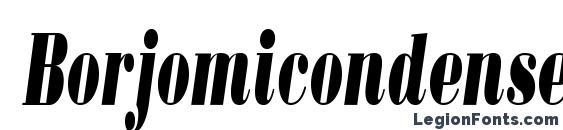 Borjomicondensedc italic Font