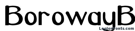 BorowayBOld Font