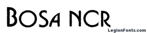 Bosa ncr Font