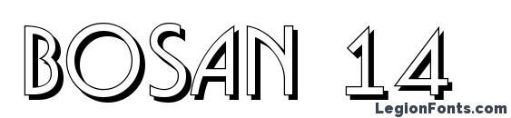 Шрифт Bosan 14