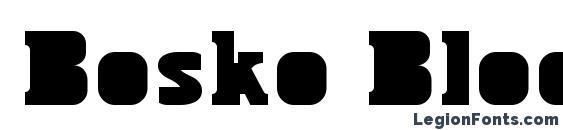 Bosko Block Font