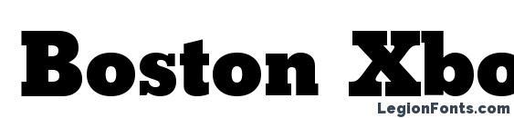 Boston Xbold Regular Font