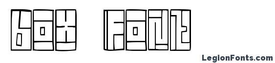 Box font font, free Box font font, preview Box font font