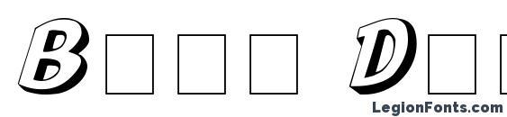 Boya Display Caps SSi Font, 3D Fonts