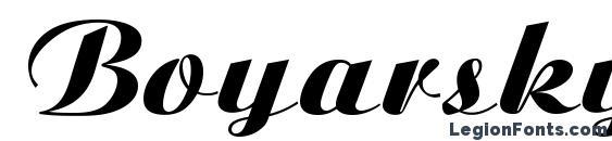 Boyarskyc font, free Boyarskyc font, preview Boyarskyc font